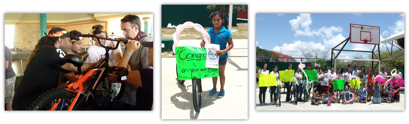 Huellas de Pan Kids Receive Bicycles