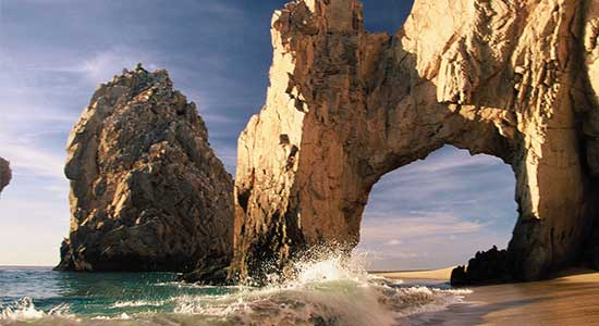 Los Cabos rock formations on a beach