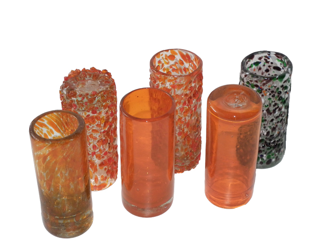 Shot Glasses with Spots
